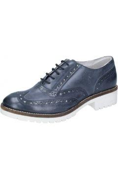 Chaussures Crown élégantes bleu cuir BZ931(115399263)