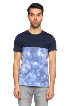 Guess-Guess Baskı Desen Lacivert T-Shirt(117325075)