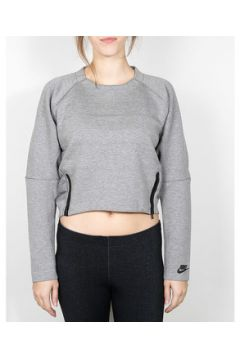 Pull Nike Nike Wmns Tech Fleece Aeroloft Crew - Carbon Heather / Black(115568497)