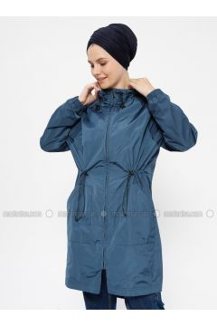 Navy Blue - Fully Lined - Trench Coat - FD SPORTS(110315347)