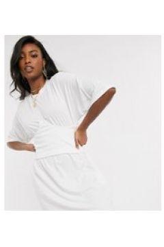 Missguided Tall - Vestito T-shirt bianco con dettaglio a corsetto(120324868)