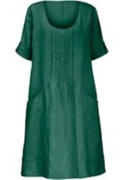 Kleid aus 100% Leinen mit 3/4-Arm Anna Aura grün(112303711)