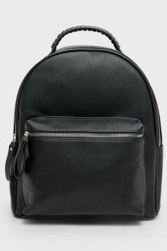 Rucksack mit Reißverschluss Schwarz(113908480)