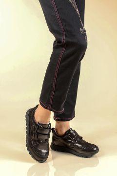 FAST STEP Hakiki Deri Çelik Simli Kız Çocuk Casual Ayakkabı(124467802)