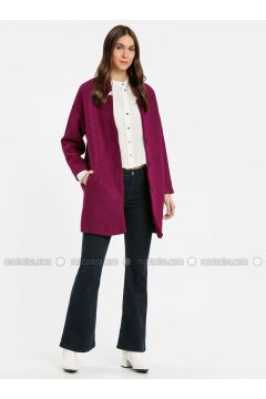 Purple - Coat - LC WAIKIKI(110322476)