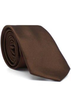 Cravates et accessoires Kebello Cravate satin fait main H Marron(127951480)