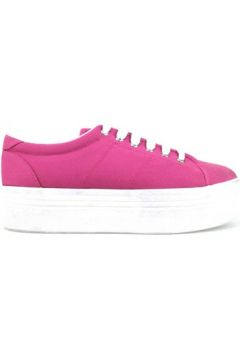 Baskets Jeffrey Campbell JC sneakers rose fucsia textile AH426(115400348)