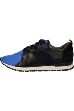 Chaussures Date sneakers noir cuir bleu textile AE534(115399504)