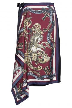 Hcw Foulard Wrap Ski Knielanges Kleid Rot HILFIGER COLLECTION(114163947)