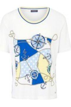 T-Shirt mit maritimem Print und seitlichen Paspeln Basler white multicolour(116400560)