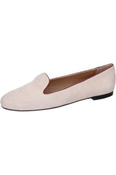Chaussures Bally mocassins beige daim rouge BY05(115400838)