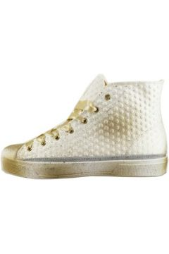 Chaussures Beverly Hills Polo Club POLO sneakers blanc textile beige AH996(115400589)