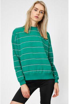Koton Kadın Çizgili Sweatshirt(117990661)