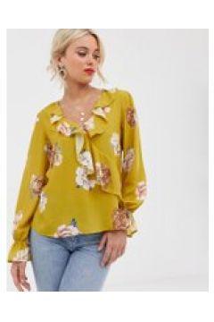 Love - Bluse mit Rüschenbesatz - Gelb(86718117)