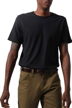 Afends Classic Hemp Standard Fit Kurzarm-T-Shirt - Black(114064980)