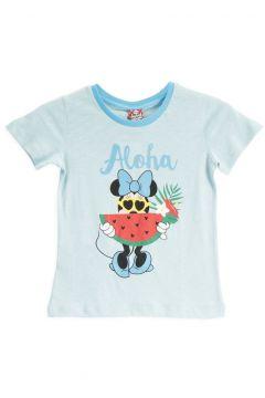 Mickey Mouse Mickey & Minnie Mouse Lisanslı Pembe Kız Çocuk T-Shirt(119159214)