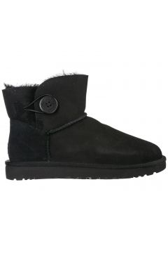Women's suede ankle boots booties mini bailey button(118072269)