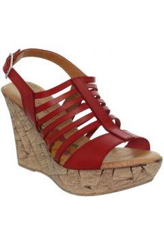 Sandales Marila Talons compensés ref_neox39489-rouge(128011962)