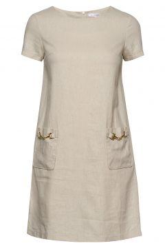 Teardrop Dress Kurzes Kleid Beige IDA SJÖSTEDT(114357376)
