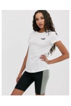 Puma - Essentials - Weißes T-Shirt mit kleinem Logo - Weiß(95026290)