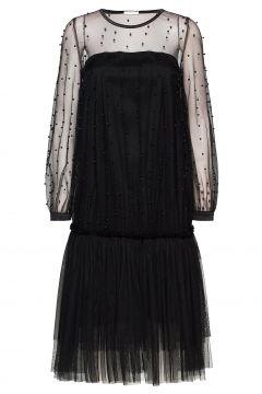 Domino Dress Kleid Knielang Schwarz IDA SJÖSTEDT(120839988)