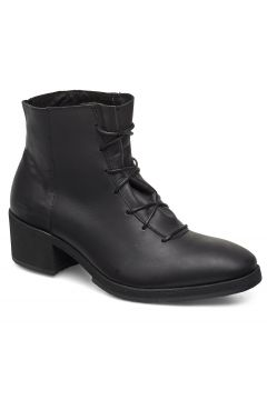 Yatfai Boot Black Leather Shoes Boots Ankle Boots Ankle Boots With Heel Schwarz GRAM(114161057)
