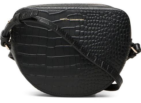 Tallin Croc Hlf Moon Crossbody Bags Small Shoulder Bags - Crossbody Bags Schwarz FRENCH CONNECTION(114166026)