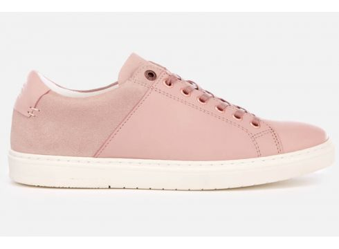 Barbour Women\'s Catlina Leather Cupsole Trainers - Pink - UK 3 - Rosa(69429912)