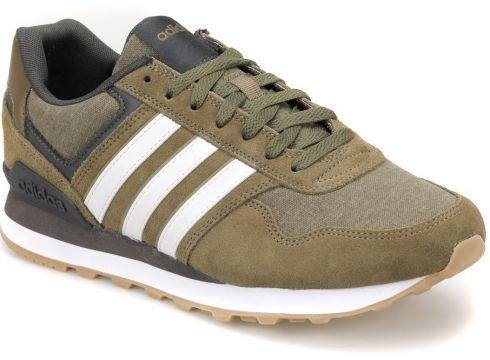 adidas 10k-35 Haki BEYAZ Erkek Koşu Ayakkabısı(51139605)