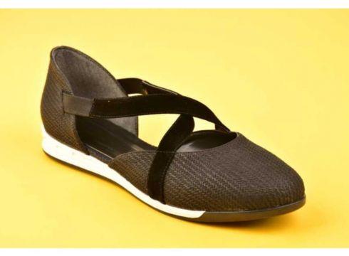 SWELLSOFT Kadın Siyah Çapraz Bantlı Günlük Ayakkabı(119323512)