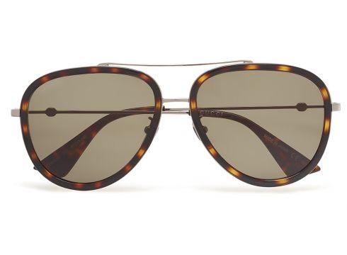 Gg0062s Pilotensonnenbrille Sonnenbrille Braun GUCCI SUNGLASSES(115544123)