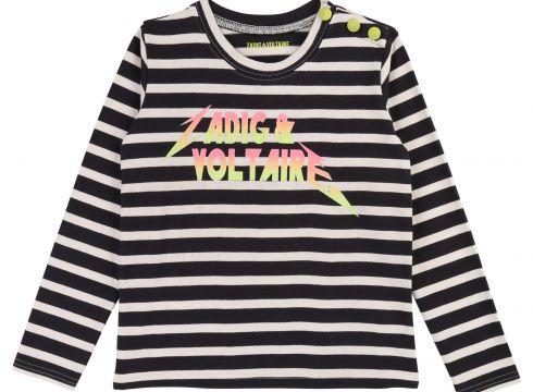 T-Shirt gestreift mit Knöpfen(114142211)