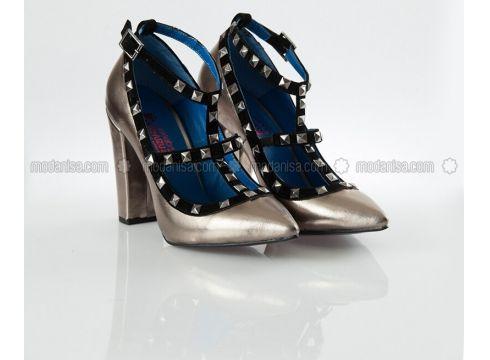 Lamé - High Heel - Shoes - Ayakkabı Havuzu(100923280)