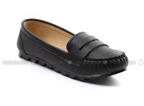 Black - Flat - Flat Shoes - Sapin(110325782)