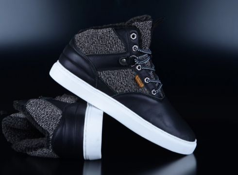 Djinns Thomson Left Sports Black Mid Top Sneaker US11/EU45(77151209)
