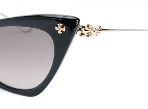 Chrome Hearts lunettes de soleil Balley Girl - Noir(76577800)