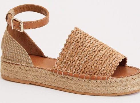 DeFacto Kadın Hasır Görünümlü Sandalet(119065743)
