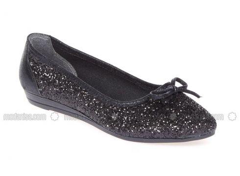 Black - Flat - Shoes - Pembe Potin(100931158)