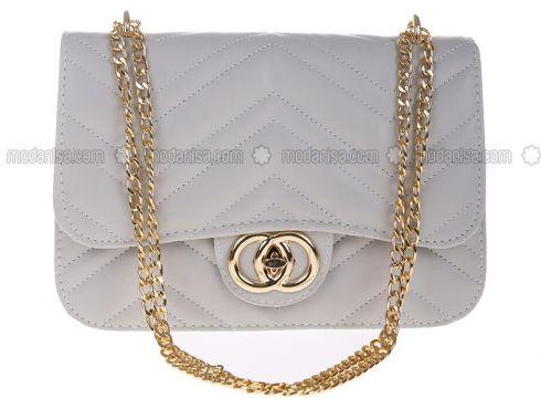 Gray - Shoulder Bags - Modeva(110321666)