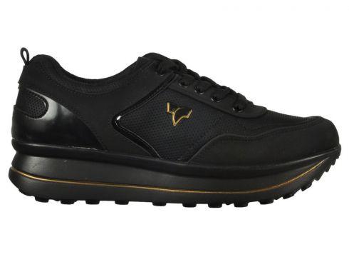 Flex Siyah-Altın Erkek Yürüyüş Ayakkabısı(105169049)