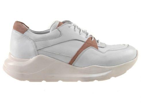 Dr.Flexer 180303-1 Hakiki Deri Kadın Comfort Ayakkabı Beyaz Garni(105198749)