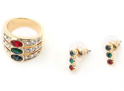 Набор: серьги, кольцо BIJOUX ANNABELLE(89574903)
