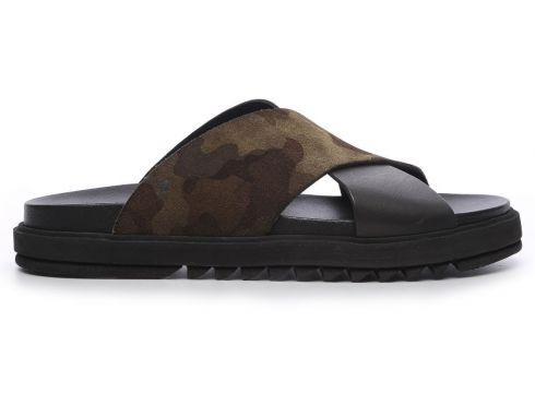 KEMAL TANCA Hakiki Deri Siyah Erkek Terlik Ayakkabı(124055530)