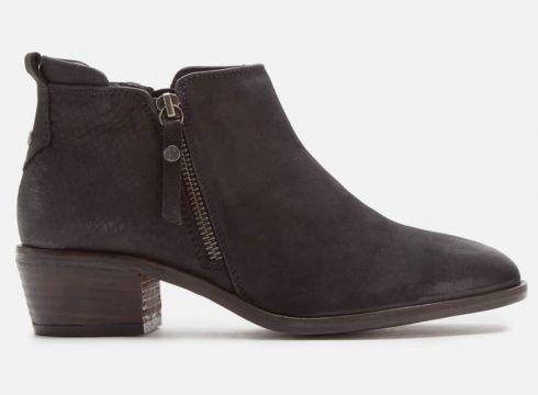 Dune Women\'s Putnum Nubuck Flat Ankle Boots - Black - UK 3 - Schwarz(90304825)