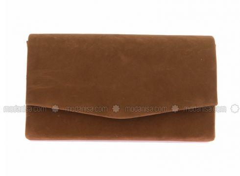 Tan - Clutch Bags / Handbags - WMİLANO(110321564)