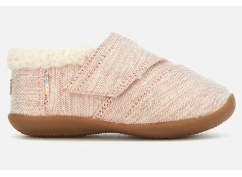 TOMS Toddlers\' Metallic Twill Glimmer Slippers - Rose Cloud - UK 3 Toddler - Rosa(62388513)