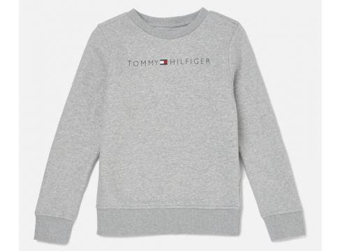 Tommy Hilfiger Boys\' Essential Tommy Logo Sweatshirt - Grey Heather - 6 Years - Grau(68158866)