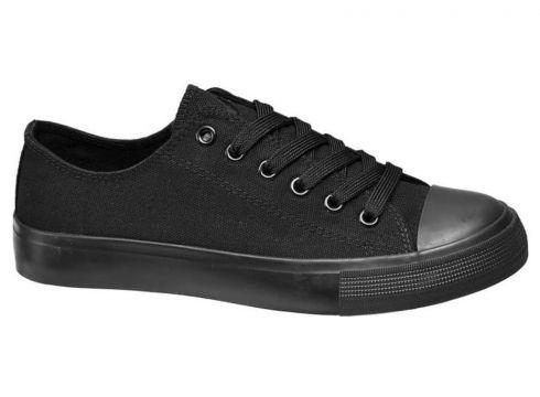 Vty Deichmann Kadın Siyah Sneaker(105123615)