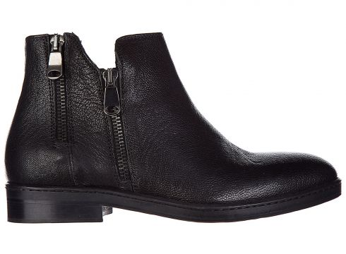 Women's leather ankle boots booties(77302284)