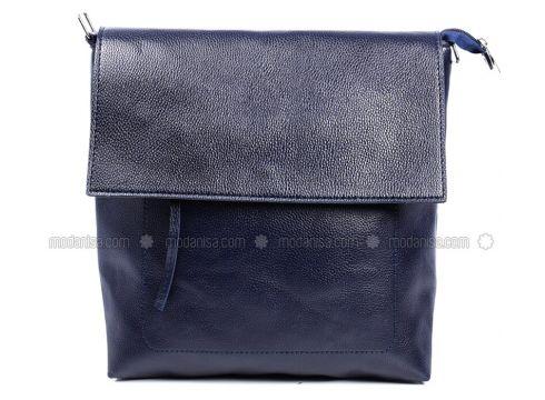 Navy Blue - Shoulder Bags - Sapin(110326377)